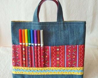 Coloring Bag Crayon Bag Crayon Tote Art Tote Clearance Ready to Ship ARTOTE