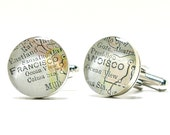 No. 01 San Francisco Map Cufflinks, California Map