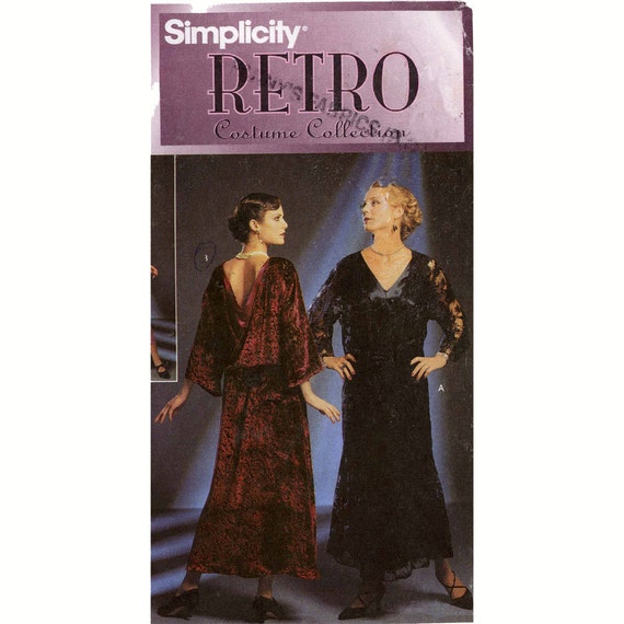 20s Flapper style dress sewing pattern Simplicity 8739 Sz 10