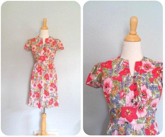 Vintage Paradise Flower Dress