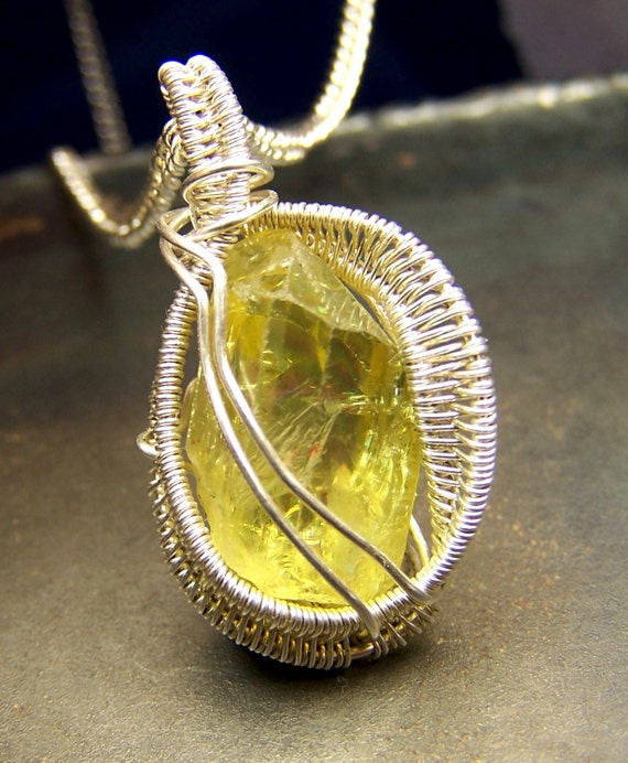 Yellow apatite pendant images yellow apatite crystal mozeypictures Images