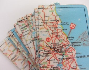 Slim Wallet- Vintage Map of England - choose 1