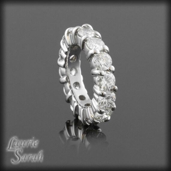 Eternity Band, Diamond Eternity Wedding Band - Statement Ring - each diamond is .25 carats - LS1150