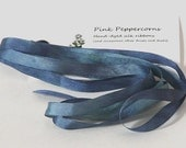 7 mm Hand-Dyed Silk Ribbon - In the Midnight Hour