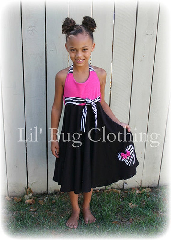 Custom Boutique Clothing Minnie Mouse Comfy Knit Black Pink Zebra Girls Dress Animal Kingdom
