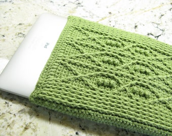 Crochet Pattern iPad Cover Crochet Cable Fish - Digital Download PDF Crochet Pattern