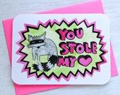 Valentine, You Stole My Heart-NOTECARD