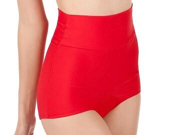 RUBY High Waist Retro Bikini Bottoms Pick Your Size