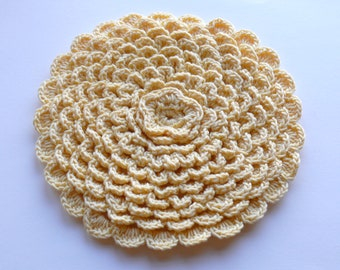 SALE - Crochet Hot Pad Flower