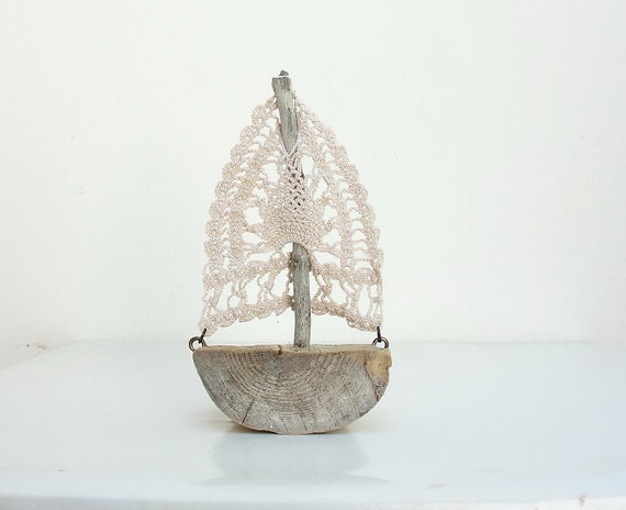 RESERVED Sweet Journey - Driftwood Boat