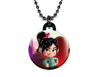 Wreck It Ralph Cute Vanellope Image Necklace