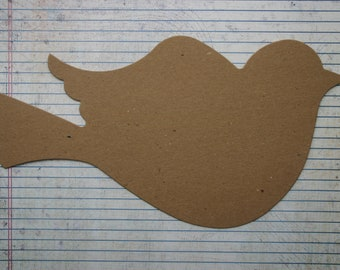 2 Extra Large Flying Bird Bare Chipboard die cut use as Album, wall decor and more