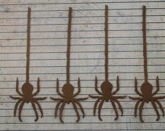 4 Hanging Spider  Halloween raw chipboard die cuts