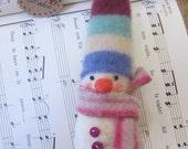 needle felted Snowpeep Suzy