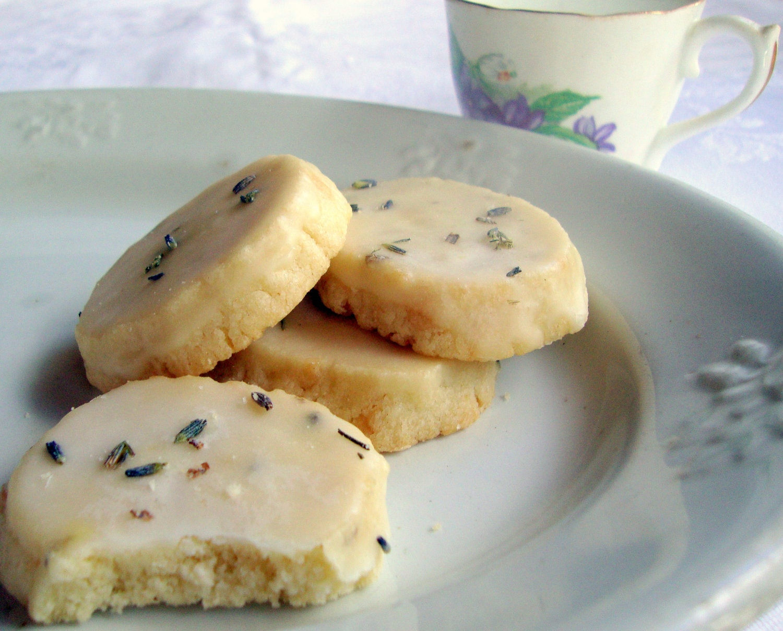 Dozen Lavender Shortbread Cookies with Lavender by MilliesPlace