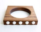 """Wood and White Stone Bracelet from the """"Palette"""" collection - Norwegian Wood x Devin Barrette Collaboration"""