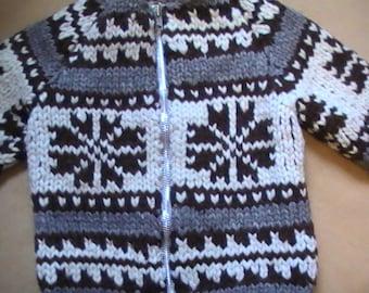 Wool Sweater  ~ 100% Wool ~ Heavy Wool Sweater ~ Winter Coat ~ Heavy Winter Sweater ~ Winter Clothing ~ Cowichan Sweater ~ Unisex Sweater