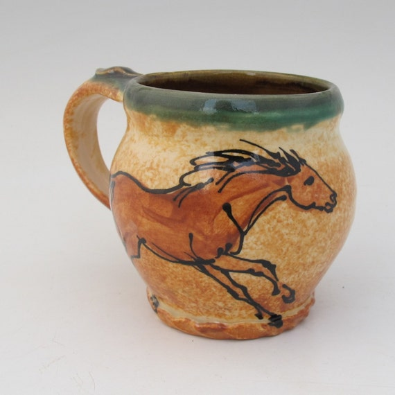mug with two horses