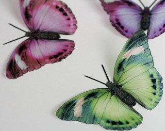 NEW - B162 - 12 x 3D Butterflies for scrapbooking, cards, weddings, decorations