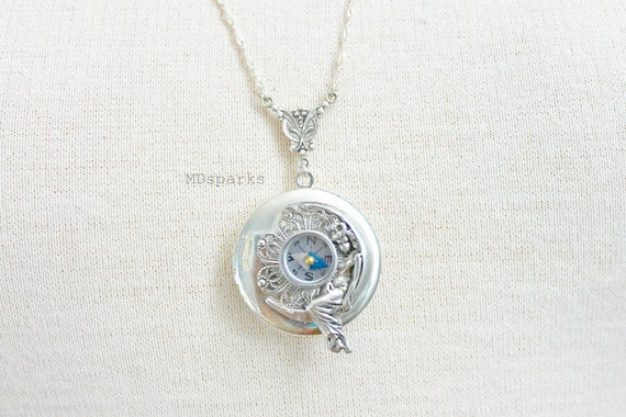 Compass Fairy Locket Necklace