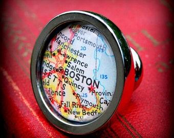 Boston Map Drawer Pull