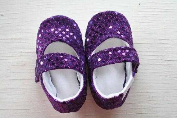 Items similar to Purple Violet sequin pink SWAG maryjane ...