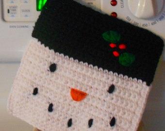 Snowman Pot holder hot pad for Christmas