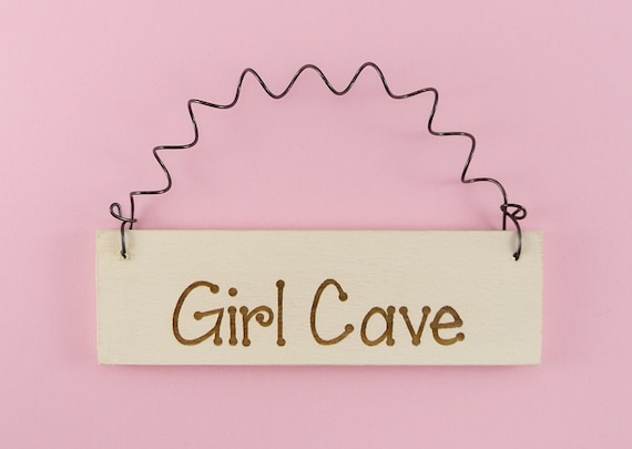 Little sign girl cave cute home decor laser by for Signs for little girl rooms