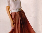 Vintage 1980s Sewing Pattern McCall's Stitch n Save 4151 Skirt Blouse Size 16-18-20  Bust 38-42 Complete