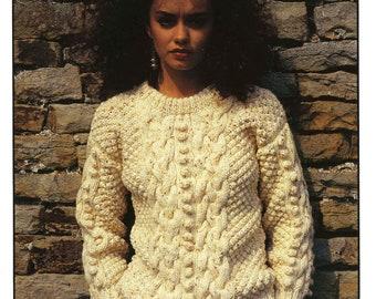 Vintage Ladies Sweater, Knitting Pattern, 1960 (PDF) Pattern, Hayfield 2167