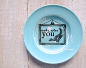 Nuts for You Sign // Woodland Decor // Squirrel // Eco Friendly // Love //  Shabby Chic // Blue // Nursery Wall Decor