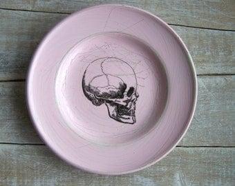 Pink Decor //  SKULL Sign // Human Anatomy // Vintage Science Decor // Medical Decor //
