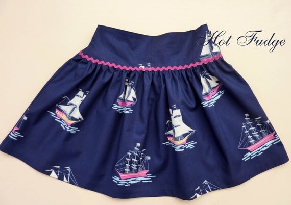 Clearance Sale, Twirly Skirt, Sail Away, Size 1T, ready to ship