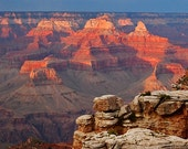 Clearance free shipping Grand Canyon sunset ACEO art trading card metallic photograph