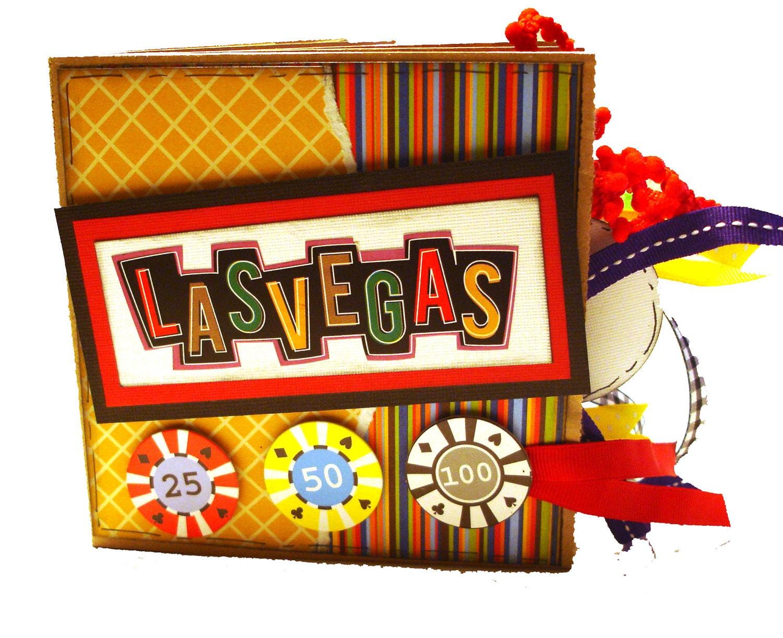 Scrapbook ideas las vegas -  Las Vegas Travel Scrapbook Paper Bag Album Zoom