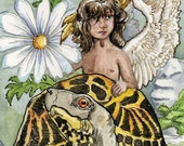 Tarot, The Chariot, Large print, The Stolen Child, from the  Limited Edition Major Arcana Deck,