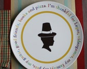 Personalized Custom Thanksgiving Silhouette Plate