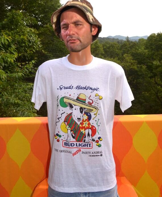 Vintage Tee Shirt 80s Spuds Mackenzie Fiesta Party Animal Rare