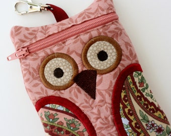 Owl iPhone Pouch Peach Paisley Owl iPod Touch iPhone 5 Case
