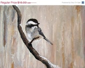 ON SALE Winter Chickadee - 5x7 Fine Art Print