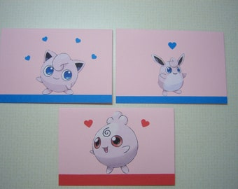 Pokemon Stationery Set--High Happiness Jigglypuff Evolution Family