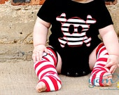 Baby Bodysuit or Kids Shirt, Leg/Arm Warmer Set - Great Photo Shoot Outfit for Boy or Girl - Fun Halloween, Birthday and Baby Shower Gift