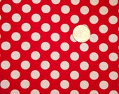 Michael Miller Red and White dot Ta Dot Polka Dot Christmas Valentine's Day Fabric Minnie