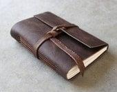 Leather Journal or Sketchbook - Dark Brown