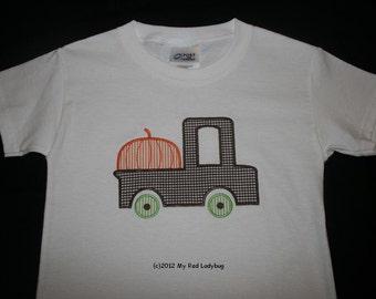 Fall Truck Applique Shirt Monogrammed