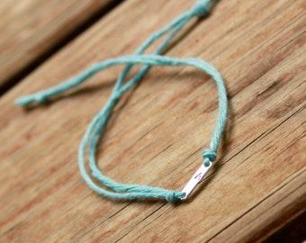 Stamped Wish Bracelet.