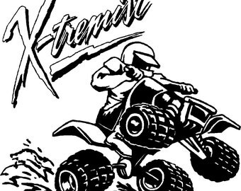 Extreme 4-Wheeler Sports Decal - Free Shipping