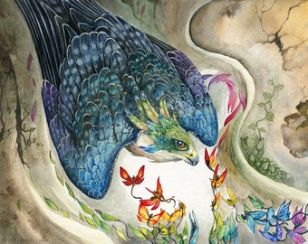Dreamseeker - Fantasy Falcon Print