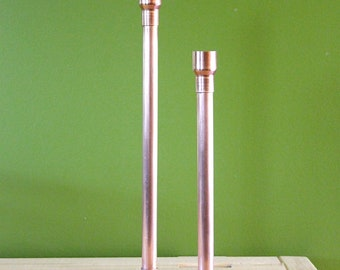 12 3/4 inch Copper Pipe Candle Holder