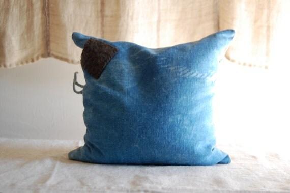 READY TO SHIP balsam buckwheat indigo cushion